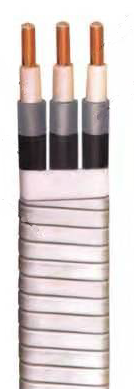 Submersible pump cable with 650°C  working temperature with less than 3kv/6kv rated voltage and long service time
