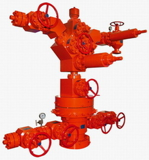 China Wellhead & X-mas tree with tubing and control line and wellhead gate valve supplier