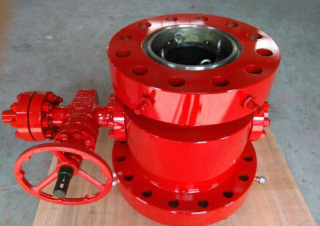 China Wellhead casing head housing with gate valve , casing hanger ,bull plug,casing head spool supplier