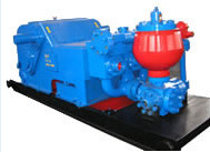 China API standard Horizontal triplex single acting piston drilling Mud Pump for oilfield drilling well company